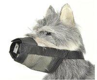 bark prices - Promotion Lowest price Black Adjustable Soft Mesh Nylon Dog Muzzle Dog Anti Bark Chew Size S M L XL