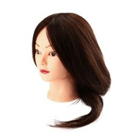 Wholesale New Arrival quot Long Human Real Hair Dummy Head Hairdressing Training Model Brown Long Synthetic Hair Model with Clamp