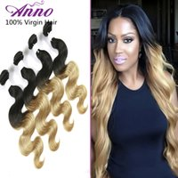 hair dye color - 8A Ombre Brazilian Hair Extensions Body Wave Color b Brazilian Body Wave Ombre Human Hair Bundles Anno Queen Hair Products