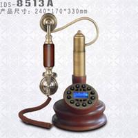 Wholesale Wood phone telephone antique telephone fashion phone vintage telephone landline telephone