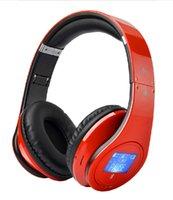 Cheap Bluetooth Headband Folding Headset Wireless Headphone Portable with Mic Stereo MircoSD TF Card Mp3 Player Base LCD FM Suobo K33