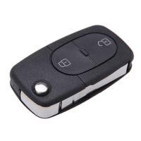 audi a4 - Unut Blade Fob Car Key cover Folding Flip Remote Car Key Shell for Audi A3 A4 S4 Uncut Fob Case Button Panic Car Key case K1676