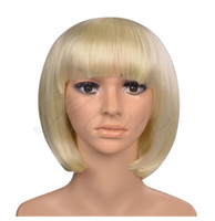 good quality wigs - Blonde wig cheap bob straight wigs short wig heat resistant hair wigs Synthetic cheap good quality