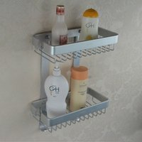 Wholesale Cody bathroom space aluminum bathroom accessories double aluminum basket bathroom accessories LE133