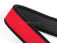 Wholesale 10pcs Camera neck strap skidproof neoprene red color for d d d d d d3200 d5100 d5300 d90 DSLR camera accessories