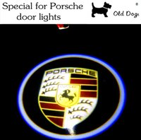 Wholesale Car light source LED door welcome lights Ghost Shadow Logo Projector Courtesy light for Porsche Cayenne