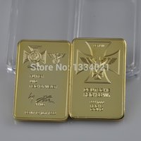 antique money banks - ounce gold plated Germany Empire Bank SIGNATURE Building bullion bar metal craft