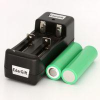 Wholesale 2PCS INR18650 R li ion battery mah for samsung Original A discharge rate e cigarette Charger