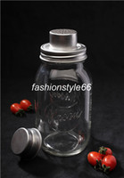 Wholesale 50pieces price Mason Jar Cocktail Shaker with Part Stainless Steel jar not included