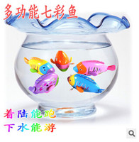 Cheap Wholesale-Cute Funny Clockwork Bath Toys Animals Fish Baby Shower Swimming Pool For Baby Kids Gift Randomly