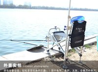 Wholesale Aluminum alloy Multifunction portable fishing chair folding chair stool fishing tackle with Bait plate fishing rod holder