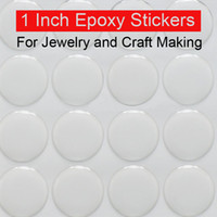 Wholesale 1 inch epoxy stickers adhesive circle stickers Self Adhesive Stickers D effect Clear Round Epoxy stickers Domes