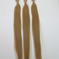 Cheap 100% Human Hair Flat Tip Hair Extensions Straight Dyeable Brazilian Hair Remy Hair Customize Shedding Tangle Free 25