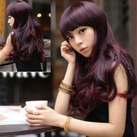 kanekalon wigs - High Quality Japanese Kanekalon Fiber New Stylish Lolita Harajuku Curly Wavy Long Hair Full Wig Anime Cosplay Wigs