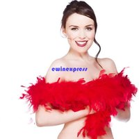 Wholesale 2m Feather Boa Scarf Shawls Wrap Glam Flapper wedding evening Party dancing Dressing costume