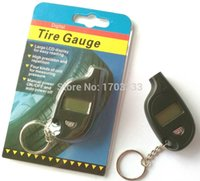 Wholesale VT708 Digital Mini Car Tire Gauge with Keychain With Cell Lithium Battery DHL Fedex