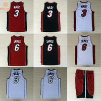 lebron james jersey - Miami Dwyane Wade LeBron James basketball jersey shorts New Material Rev30 jerseys Embroidery Stitched Shirt