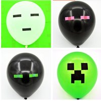 inflatable cartoon - Creeper Minecraft Balloon Rubber Inflatable Balloons for Kids Balloons Party Decoration Children Kids Toys Gift Balloon