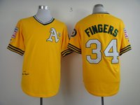 mitchell and ness - Good quality Oakland Athletics jersey Rollie Fingers Throwback Mitchell and Ness Men s Baseball Jersey