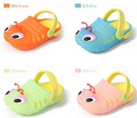 caterpillars - 2015 kids summer beach shoes Caterpillar shoe Children sandals slippers baby carpenter worm hole shoes girls Jelly shoes cheap HX