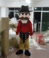 bearded costumes - Hot fashion bearded bandits Captain Mascot Costume Wear Hat Villain Cartoon Clothing adult Fancy dress