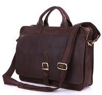 Wholesale 6020Q Real Crazy Horse Leather Men s Briefcases Handbag Bag Laptop bag Hot Selling