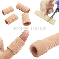 Wholesale New Toes Finger Gel Ribbed Tube Protector Moisturizing For Cushion Corns Calluses Relieve Pain