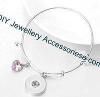 Wholesale 12pcs mix colors dia mm NOOSA alex bangles snap jewellery heart dangle Interchangeable Ginger Snaps Button Charm Bracelet Snap