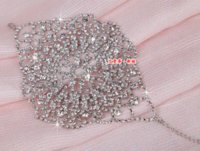 agate uses - alloy rhinestone bridal bracelet rhinestone hand back chain women arm chain double use Charm Bracelets