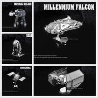 Wholesale Nano Puzzles Star Wars D metal model DIY Millennium Falcon X WING ATAT Mini Gift to children Originality