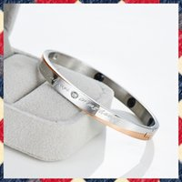 balanced forces - B082 new items rose gold infrared ion balance force titanium magnetic lovers lettering bracelets bangle fashion