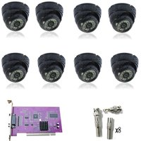 Wholesale Outdoor CCTV Security CH DVR Video Card TVL SONY CCD IR Camera System NTSC