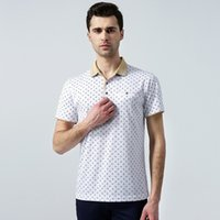 cotton polyester shirts - High Quality Men POLO T Shirts Polyester Cotton Short Sleeve Men s Business Office Lapel Sleeve Shirt Patchwork Size M L XL XXL