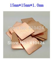 Wholesale 100pcsX15mm mm mm Copper Heatsink thermal Pad for Laptop GPU CPU order lt no track