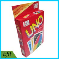 Wholesale UNO Poker Card Standard Edition Family Fun Entermainment Board Game Kids Funny Puzzle Game Playing Card DHL Free in stock