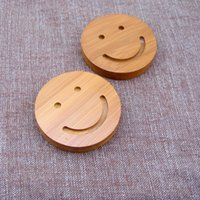 bamboo table mat - Bamboo Insulating Pads Smiling Face Cup Mats Table Decoration Diameter cm Thickness cm