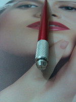 Wholesale 1pc Red Professional Manual Permanent Makeup Eyebrow Pen Tattoo Machines Pin Needle Blades