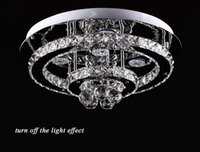 Wholesale Modern luxurious generous style brilliant high power Led chandeliers crystal ceiling light first K9 crystal stainless steel