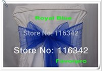 Wholesale x7inchOrganza Sheer Chair Sashes Wedding Party Cover Banquet Bows Deco Colors