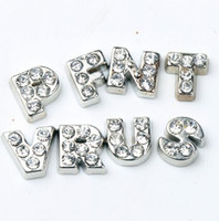Charms   Hot sell A-Z Crystal Letter Heart Floating Charm for Glass Living Memory Locket Jewelry Findings Components