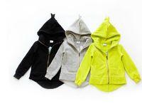 Wholesale 2015 new dinosaur hoodies jackets for babys kids high quality children girls boys cotton dinosaur hooded hoodie sweatshirt clothes Hot