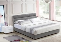 Wholesale CLOTH ART BED MODERN STYLE GRAY SIMPLE FASION DOUBLE PERSON HIGH GRADE GOOD QUALITY CM B308D