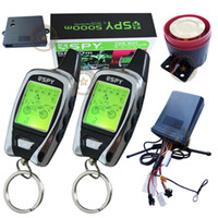 motorcycle alarm - spy two way motorcycle alarm long distance remote anti hijacking mode remote start stop engine LED alarm indication motion alarm
