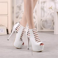 red bottoms heels - 2015 Hot Selling Women Casual Pumps Thin High Heels Sandals Stiletto Peep Toe Red Bottom