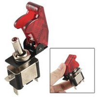 Wholesale Promotion DC V On Off Racing Car Illuminated Toggle Switch Red Cover