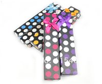 round cardboard gift box - High Quality Assorted Color Round Dot Design Cardboard Necklace Bracelet Gift Packaging Box