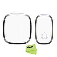 Wholesale Waterproof Wireless Doorbell Transmitter Receiver Home Use Door Bell Max meters Operating Range Chimes ML002 X46p