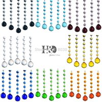 Wholesale 830cm Set of Curtain String Crystal Octagon Beads with mm Sphere Multi faceted Glass ChandelierHome Decor