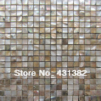 Wholesale Factory direct pricing HYRX shell mosaic tile penguin shell with ceramic mother of pearl tiles wall tiles