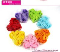 Wholesale 600pcs Hot sale High Quality Mix Colors Heart Shaped Rose Soap Flower For Romantic Bath Soap Valentine s Gift